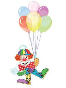 Clown With Balloons Stock Photography