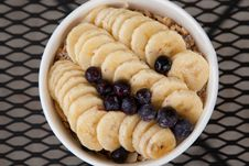 Free Bananas, Blueberries And Granola Royalty Free Stock Images - 19327699