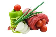Free Beef And Vegetables Royalty Free Stock Photos - 19328818