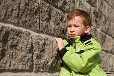 Free Portrait Of  Boy About  Gray Wall Stock Photo - 19329350