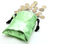 Free Wealth Coins Spilling Out Royalty Free Stock Image - 19329956