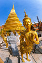 Free Thai Arts And Culture. Kinnari Statue At Wat Phra Royalty Free Stock Image - 19336116