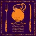 Free Golden Jar Menu Illustration Stock Image - 19336161