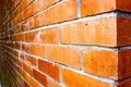 Free Close-up Of A Orange-brown Brick Wall. Stock Photos - 19337253
