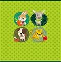 Free Cartoon Animal Card Royalty Free Stock Photography - 19339027