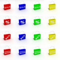 Free Colorful Icons Bags For Shopping Stock Photography - 19339102