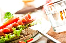 Free Brown Bread With Sausage Stock Photos - 19330163
