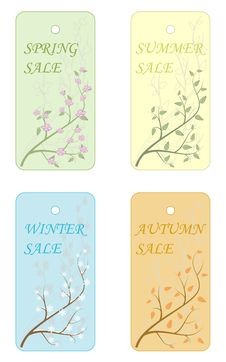 Vector Sale Label. Royalty Free Stock Photo