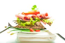 Free Brown Bread With Sausage Stock Images - 19330604