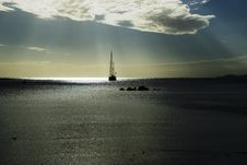 Free Sunset Anchorage Innew Caledonia Stock Photography - 19331292