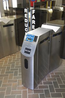 Free Subway Ticket Turnstile Royalty Free Stock Photography - 19331747