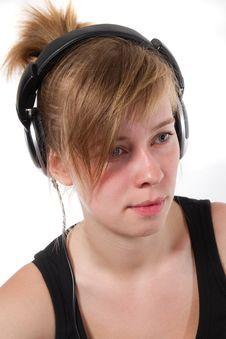 Free Portrait Of A Female DJ Chick Stock Image - 19331881
