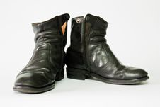 Free Old Black Leather Boots Stock Photos - 19333243