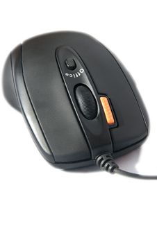 Black Computer Mouse Stock Photography