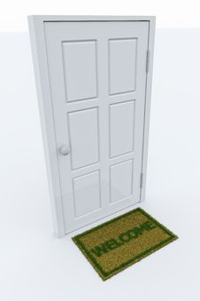 Free Door With A Welcome Mat Stock Photos - 19334003