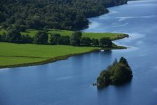 Free Banks And Island On A River From Scotland Stock Images - 19334094