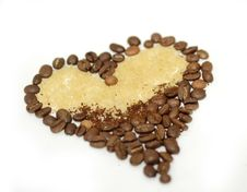 Free Heart Of Coffee Beans Stock Photography - 19334372