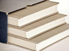 Grey Books Royalty Free Stock Photos