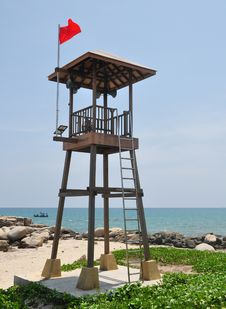 Free Beach Guard Tower Stock Photo - 19334450