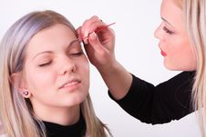 Free Makeup Artist At Work Royalty Free Stock Image - 19334586