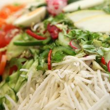 Free Fresh Salad With Assorted Ingredients Stock Photo - 19335080
