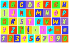 Multicolored Alphabet. Stock Images