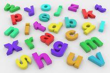 Colorful 3D Letters