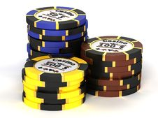 Free Casino Chips Royalty Free Stock Photo - 19336715