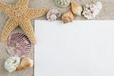Starfish Frame Stock Image
