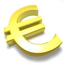 Free Euro 3D Sign Stock Photo - 19337050