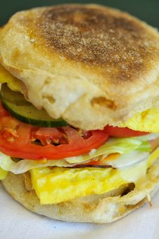 Vegetable And Egg Burger Royalty Free Stock Photos