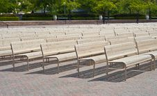 Free Benches In A Row Stock Photography - 19337632