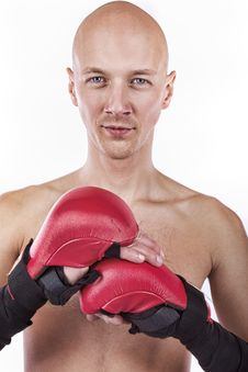 Picture Of Confident Fighter Royalty Free Stock Photo