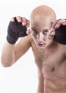Free Kick-boxer Is On Training Stock Photography - 19338422