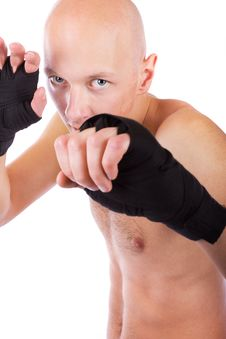 Free Young Confident Kick-boxer Stock Image - 19338431