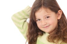 Young Girl With Arm Behind Head Royalty Free Stock Photography