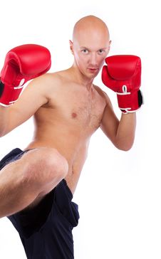 Free Image Of Bold Kick-boxer Stock Images - 19338624
