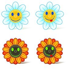 Free Smiling Flower Royalty Free Stock Image - 19339386