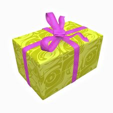 Yellow Gift Box Royalty Free Stock Photography