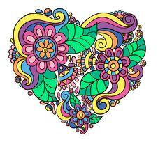 Free Bright Flower Heart Stock Image - 19339771
