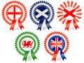 Free United Kingdom Rosettes Royalty Free Stock Photography - 19341687