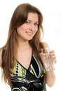 Free Woman With Glass Of Water Stock Images - 19345654