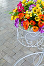 Free Bouquet In Bicycle Stock Photography - 19345682