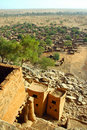 Free Vertical Overview Of A Dogon Village Stock Images - 19346424