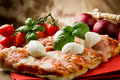Free Pizza With Buffalo Mozzarella Royalty Free Stock Photo - 19349995