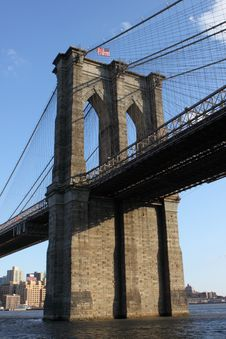 Free Brooklyn Bridge West Tower Royalty Free Stock Photos - 19340308
