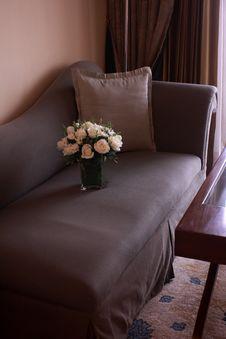 Free Flower Vase On A Sofa Stock Photo - 19340460