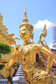 Free A Golden Kinnari, Bangkok, Thailand Stock Photos - 19340483