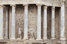 Roman Amphitheater Of Merida In Spain Stock Photos