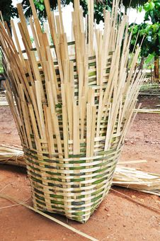Bamboo Basket Royalty Free Stock Image